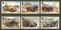 JERSEY 1989 MNH Stamp(s) Antique Cars 457-462 #4302 - Cars