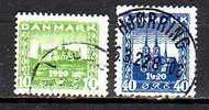 1411) Dänemark Mi.Nr. 114-115 Gestempelt - 1913-47 (Christian X)