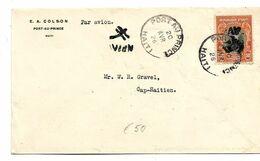 Ha029/ Flugbrief 1926 - Inlandroute (cover, Lettre) - Haiti