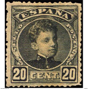 ES247STV-LFT2193TIO.CADETE.España. Spain.Espagne.Alfonso Xlll Joven.1901/5.(Ed 247*) Con Charnela - Infancia & Juventud