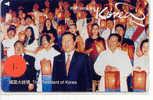 President Of Korea On Phonecard Japan (1) - Personen
