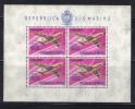 Z14 - SAN MARINO, 1000 Lire Aerei Il Foglietto N. 25  ***  Poco Fresco E Gomma Bicolore - Blocks & Sheetlets