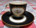 Raffinata Tazzina Da Tè Con Piattino In Porcellana - Con Marchio - Ceramica & Terraglie