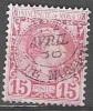 Monaco 1885 Yvert 5 O Cote (2015) 45.00 Euro Prince Charles III Cachet Rond - Monaco