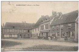 HARCOURT : La PLace   Cafe Epicerie Flahaut - Harcourt