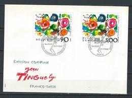 BZ--039--. Lettre Emission Commune FRANCO-SUISSE De Tinguely, Peu Courant, Cote 60 CHF ( 48.00 € ) !!  ,TTB - Emissions Communes