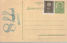 Entier Postal Avec Timbre Additionnel - Serbie