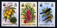 MONTSERRAT 1985, OISEAUX, FLEURS, MANGUES, 3 Valeurs. R226 - Birds