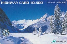 Carte Japon / CANADA BANFF PARK - Paysage De Neige Snow Landscape - Japan Related Card - 04 - Landschappen