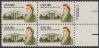 !a! USA Sc# 1935 MNH BLOCK W/ Right Margins & Copyright Symbol (a1) - James Hoban - Stati Uniti
