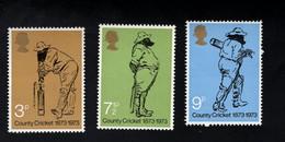 Groot Brittannie Postfris Mint Never Hinged Yvert 684-686 Sport Cricket - Cricket