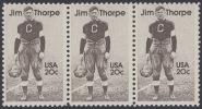 !a! USA Sc# 2089 MNH Horiz.STRIP(3) - Jim Thorpe - Estados Unidos
