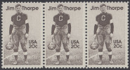 !a! USA Sc# 2089 MNH Horiz.STRIP(3) - Jim Thorpe - United States