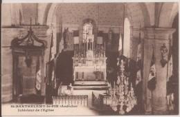 Saint Barthelemy Le Pin :  Interieur De L Eglise - France
