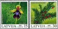 Latvia-Protected Plants Of Latvia -USED-2003 - Lettonie