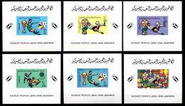 LIBYA 1982, World Cup, DeLuxe:proofs:6 /épreuve De Luxe ,prueba,Druckprobe,prova,proeven - Libya
