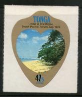 Tonga 1980 Scenery Beach Tourism Odd Shaped Provisional Sc C298 MNH # 599 - Tonga (1970-...)