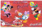 4 Télécartes DISNEY (6) COCA COLA Puzzle. 4 Phonecards Disney In Puzzle - Disney