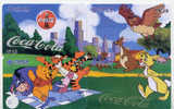 4 Télécartes DISNEY (11) COCA COLA Puzzle. 4 Phonecards Disney OWL UIL In Puzzle - Disney