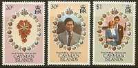 CAYMAN ISLANDS 1981 MNH Stamp(s) Wedding Diana 475-477 #7306 - Koniklijke Families