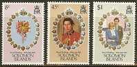 SOLOMON ISL 1981 MNH Stamp(s) Wedding Diana 444-446 # 7018 - Royalties, Royals