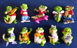 Crazy Crocos 1993 - Kompletter Satz Ohne BPZ - Diddl & Ü-Eier