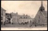 """1908 !! SUPERBE """" PRUNAY (L-et-Ch) - LA PLACE -édit. Chabrillac - Chartres !! Publ. Guerin Boutron - Cheval -enfants !!! - Frankrijk"""
