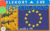 Denmark 5 KR NETHERLANDS CARDEX 95 (17)  PRIVE 1.000 EX - Denemarken