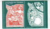 Journée Du Timbre 3136 A - Blanc Avec Vignette (Neuf) - Abarten Und Kuriositäten