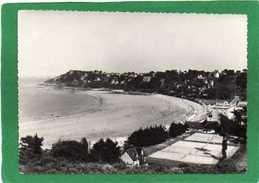 22  PERROS GUIREC - La Grande Plage De Trestraou Et   Les Terrains De Tennis Année1955 CPSM 15X10cm - Perros-Guirec