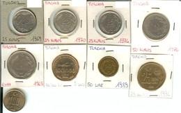 Turchia: Lotto 9 Monete Differenti - Turquie