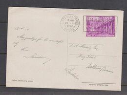 Vatican-1950 Postcard With 35 Lire Basilica  Sent To Australia - FDC