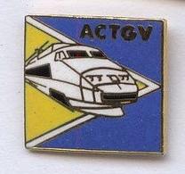 T138 Pin's Train TGV SNCF ACTGV Qualité EGF Achat Immédiat Immédiat - TGV