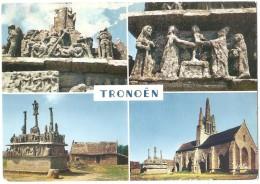 CPSM 29 SAINT-JEAN-TROLIMON - Tronoën - L´Église Et Le Calvaire - Multi-vues - 1968 - Saint-Jean-Trolimon