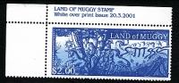 Land Of Muggy Fantasy Stamp 2001 Corner Stamp With Inscription On The Selvedge. - Cinderellas