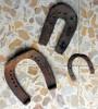 Lotto 3 Antichi Ferri Di Cavallo - Ferro Battuto