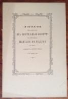 1885-LUCCA-NOZZE DEL CONTE LELIO ORSETTI CON MATILDE DE FILIPPI-VERSI DI UN AMICO - Annunci Di Nozze