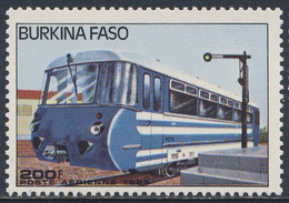 Burkina Faso 1985 Mi 1048 Aero ** Diesel Railcar No. 105 / (Schienenbus - Treinen