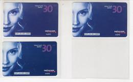 4 Value Card Natel Easy CHF 30.-- / SWISSCOM Mobile - 4 Dates Différente - Opérateurs Télécom