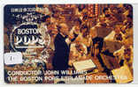 Telecarte CONDUCTOR JOHN WILLIAMS (1) CONCERT DIRIGENT BOSTON USA Musique Music Muziek JAPON - Muziek