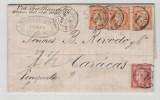 Fc132/ FRANKREICH -  Ceres 1876 Venezuela. Tarif 2 F. (40 C X 3, 80 C X 1)1 - 1849-1876: Classic Period