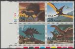 !a! USA Sc# 2422-2425 MNH PLATEBLOCK (LL/1) - Prehistoric Animals - Stati Uniti