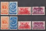 Rumänien; 1953; Michel 1435/8 O; Weltjugendspiele - 1948-.... Republiken
