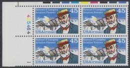 !a! USA Sc# C118 MNH PLATEBLOCK (UL/435464) - Samuel P. Langley - 3b. 1961-... Unused