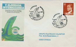 OBLITERATION ENVELOPPE DAUPHIN - LE LEVER DE JOUR INTEROCEANIQUE CANDAS 1982 - Delfines
