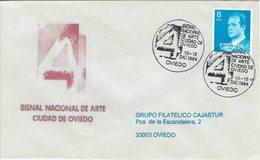ENVELOPE CANCELLATION BISANNUEL D´ ART DE VILLE  D´ OVIEDO 1984 - Arte