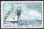 France N° 1245 ** Journée Du Timbre 60 - Navire Cablier - Nuovi