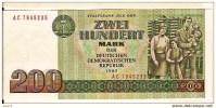 """200 Mark  """"ALLEMAGNE De L´EST""""   1985     UNC    Bc88. - [ 6] 1949-1990: DDR - Duitse Dem. Rep."""