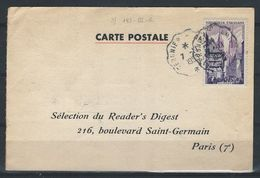 EZ-/-031--. Superbe Carte Avec Ambulant TERNIER A AMIENS , De 1955, TTB , - Postmark Collection (Covers)