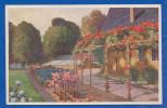 Malerei; Landschaft Mit Haus Und Terasse; Oilette; Ed. Wohlgemuth & Lissner; 1915 - 1900-1949